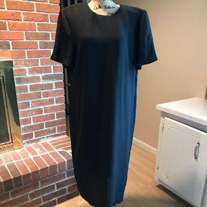 Size 18 Leslie Fay Plain Black Dress